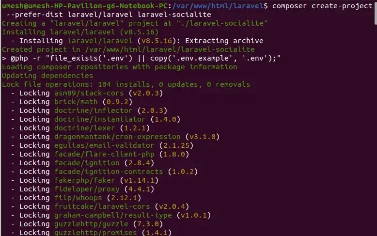 Laravel 8 Project Setup for LinkedIn Login