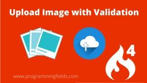 Upload Image in Codeigniter 4