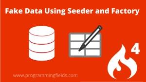 Database Seeder in Codeigniter 4