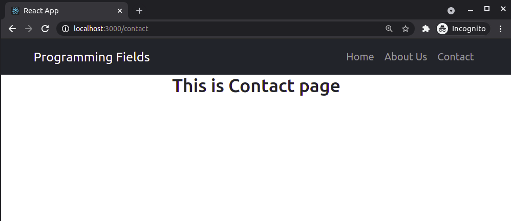 Contact Component in React JS