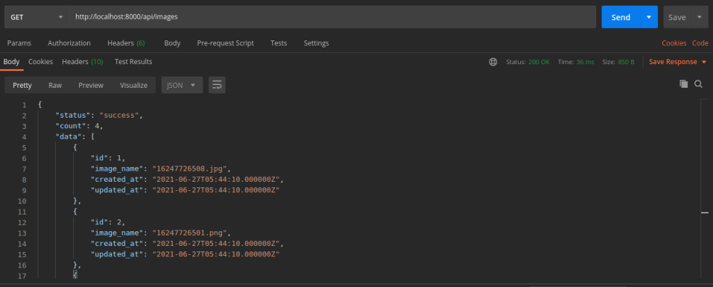 Fetch Images in Laravel 8 For react file upload