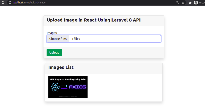 Select Multiple Image in React JS