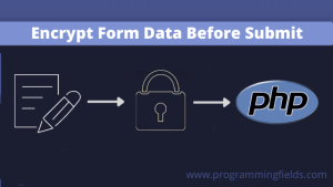 Encrypt form data before submit