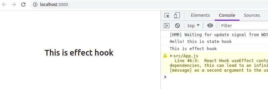 useEffect Hook Response