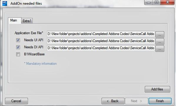 SAP B1 Addon ard create 5