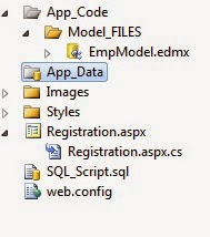 Registration Form in ASP.NET using Entity Framework Data Model