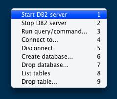 DB2's menu
