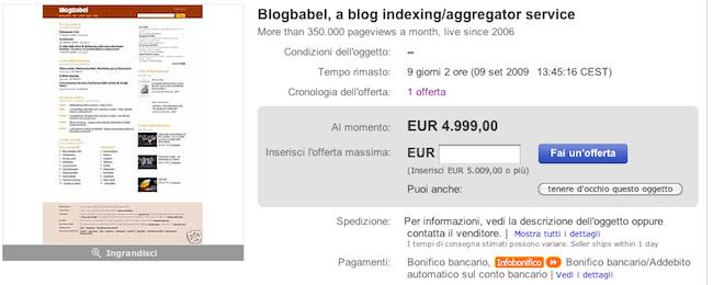 BlogBabel on eBay