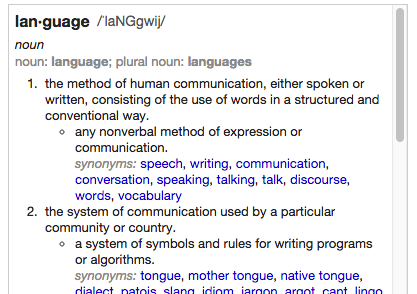 Language Definition