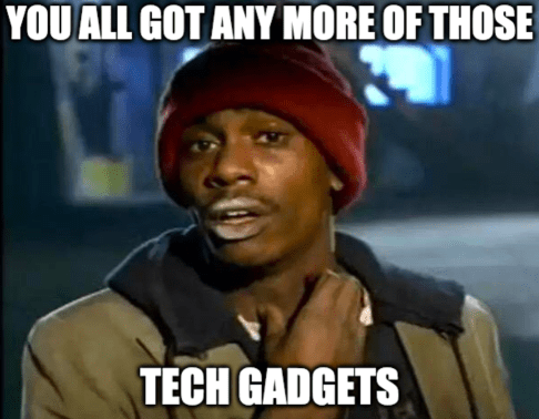 Tech gadgets addiction. The struggle is real.