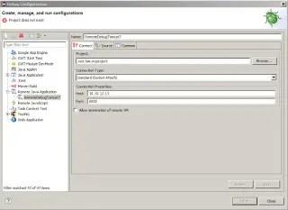 Remote Java application configuration