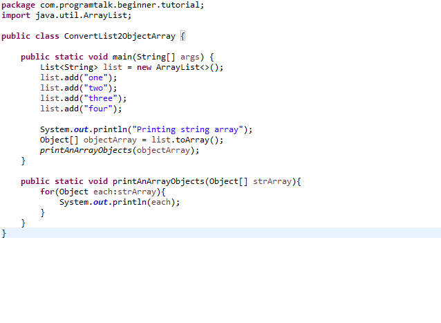 Convert List to Array in Java - Program Talk