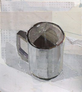 """Cup 1"", 2015, collage on paper, 7 x 8"""