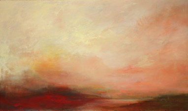 """Dusk #2"", 2015, oil on canvas, 28"" x 55"""
