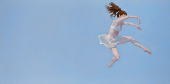 """Released"", 2015, oil on panel, 24"" x 48"""