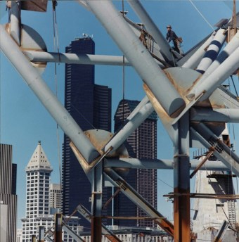 """Seattle Skyline"", 1998, 35mm color photo, 1/5, 19.5 x 19.5"", 27.5 x 27.5"" framed"