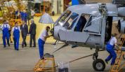 Helicopters being manufactured at the factory in Kazan, capital of the republic of Tatarstan.