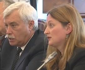 St. Petersburg Mayor Georgi Poltavchenko spoke through an interpreter.