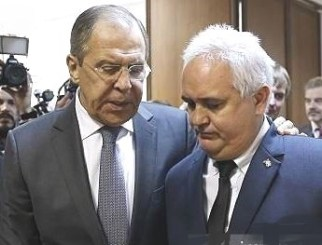Lozada with Russian Foreign Minister Sergei Lavrov in November 2016.