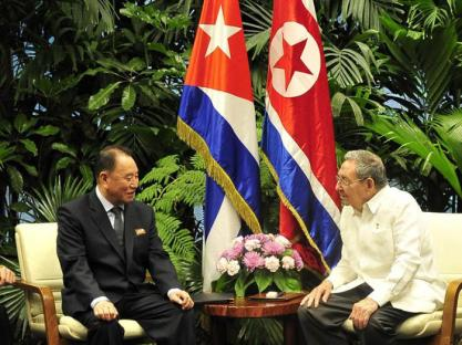 Ri Yong Ho and Castro meeting in Havana last month.