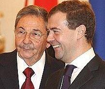 Presidents Raúl Castro and Dmitri Medvedev in 2009.