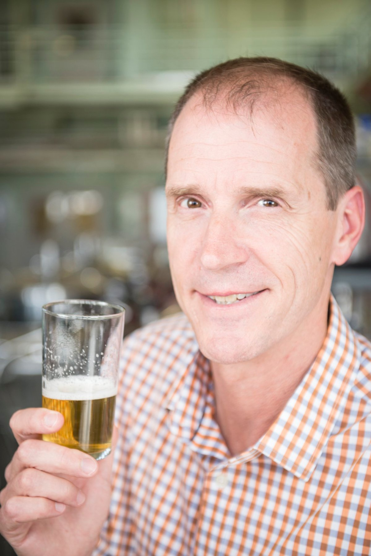 Tom Shellhammer runs sensory evaluations on beer