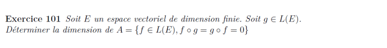 Dimension d'espaces vectoriels