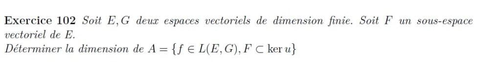 Calcul de dimension