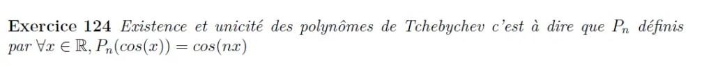Polynômes de Tchebychev