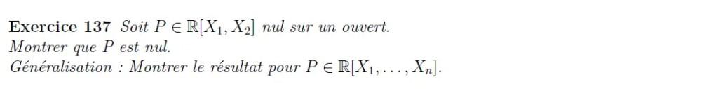 Polynômes à n variables
