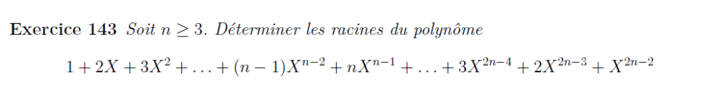Racines de polynômes
