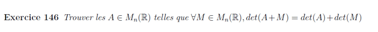 Equation de déterminant