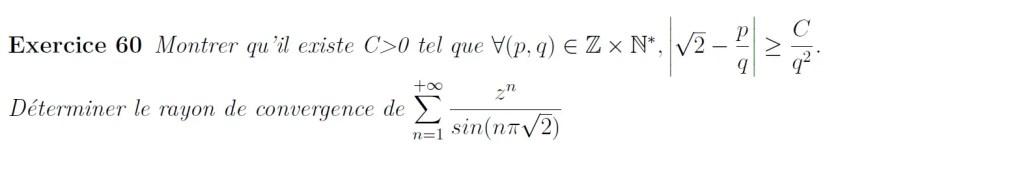 Approximation de racine de 2