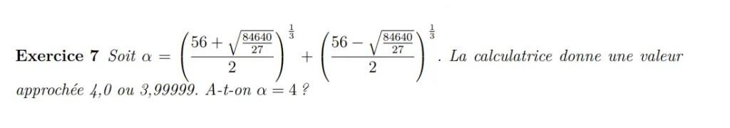 Equation de réels