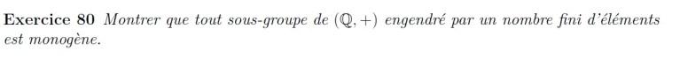 Sous-groupes de Q+