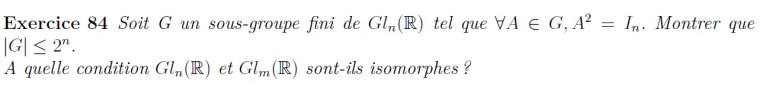 Sous-groupe fini de Gln(R)