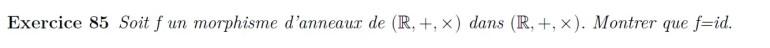 Morphisme d'anneaux de R