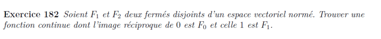Fermés espaces vectoriels
