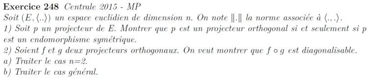 Projecteur orthogonal