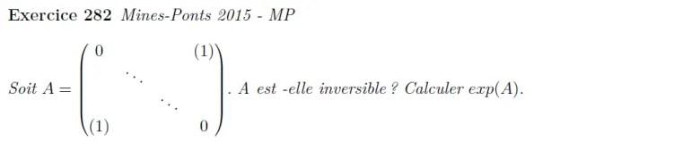 Exponentielle de matrices