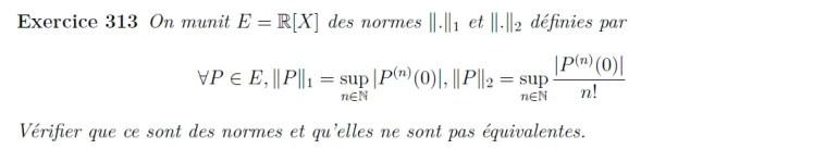 Normes de polynômes