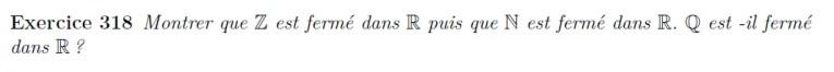 Fermeture des espaces de nombres