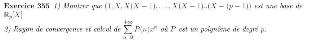 Série entière de polynômes