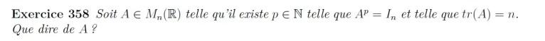 Equation de matrice