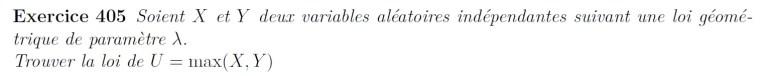 Max de variables aléatoires