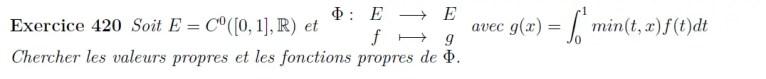 Elements propres fonction