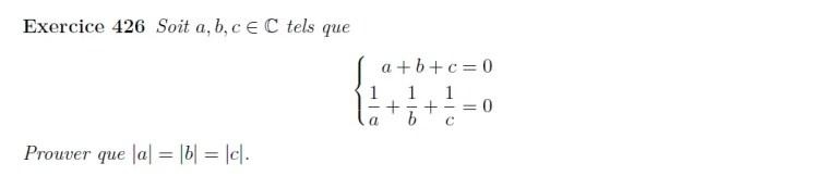 Equation de complexes