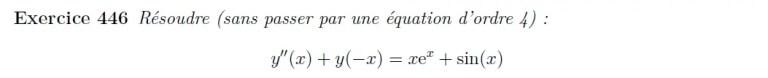 Equation différentielle à manipuler