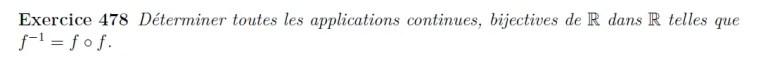 Equation fonctionnelle et bijection