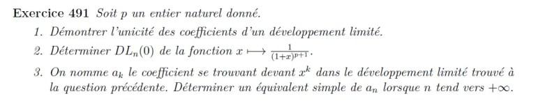 Développement limité fraction rationnelle